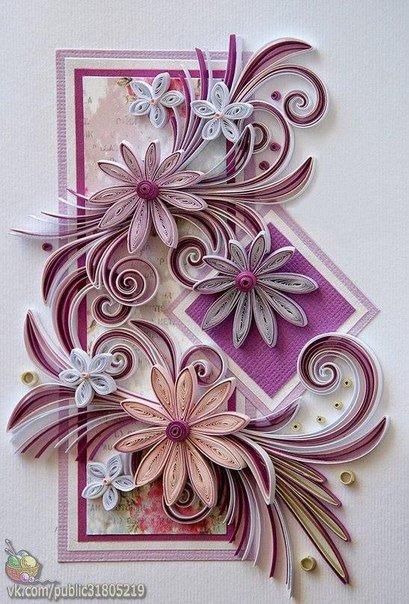 Красивые открытки своими руками по квиллингу