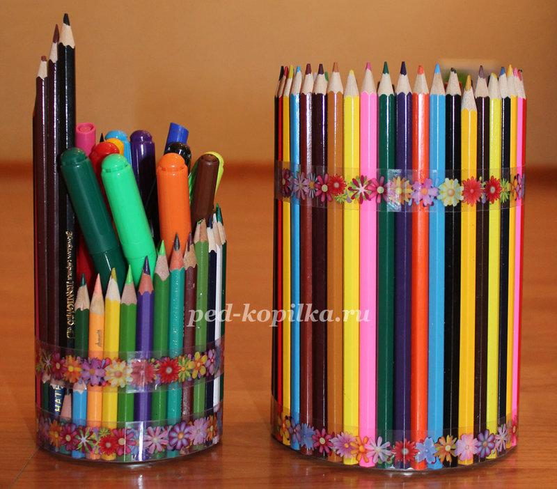Поделки из старых карандашей