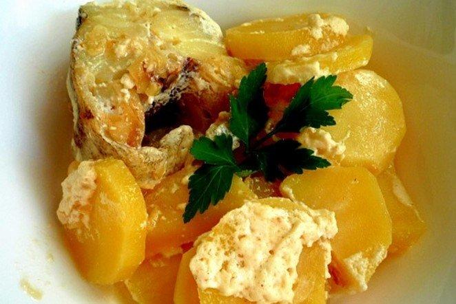 Картошка с минтаем в мультиварке рецепты с фото