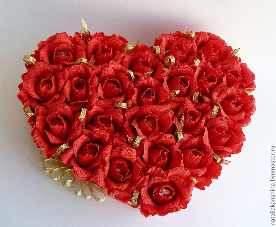Букеты и сердца из конфет своими руками 431