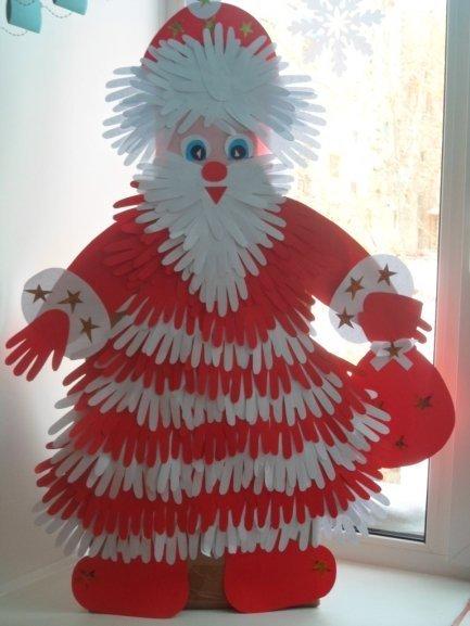 Дед мороз из ладошки своими руками