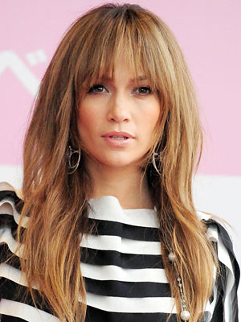 Стрижки на длинные и средние волосы без челки