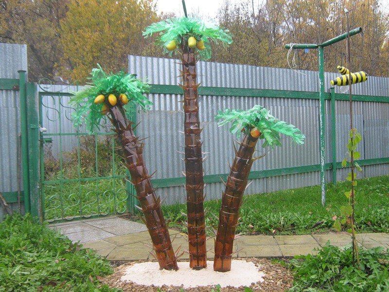 Пальма из бросового материала