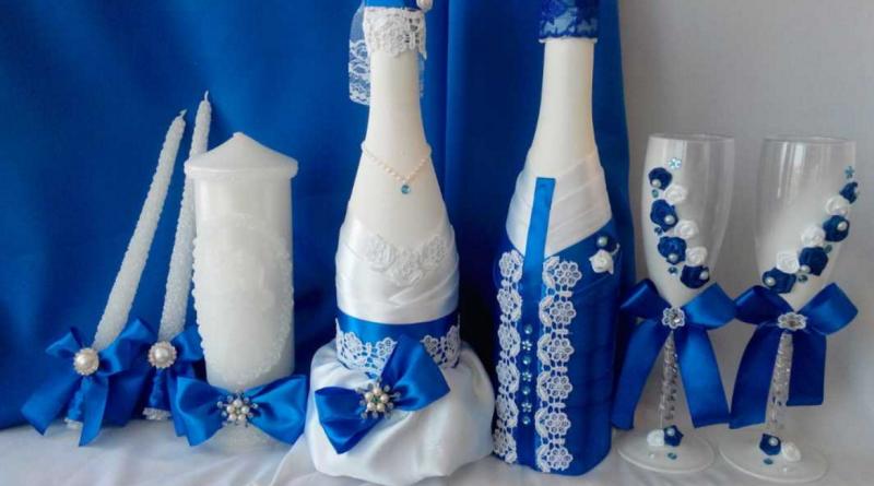 Яркое оформление бутылок и бокалов на свадьбу - карточка от пользователя tanya.ionko в Яндекс.Коллекциях