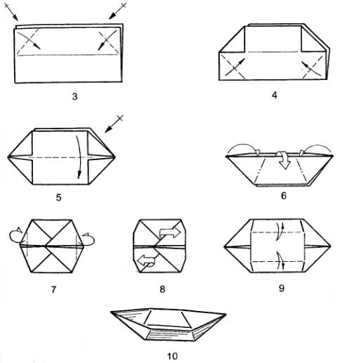 Как сделать парусник из бумаги поэтапно
