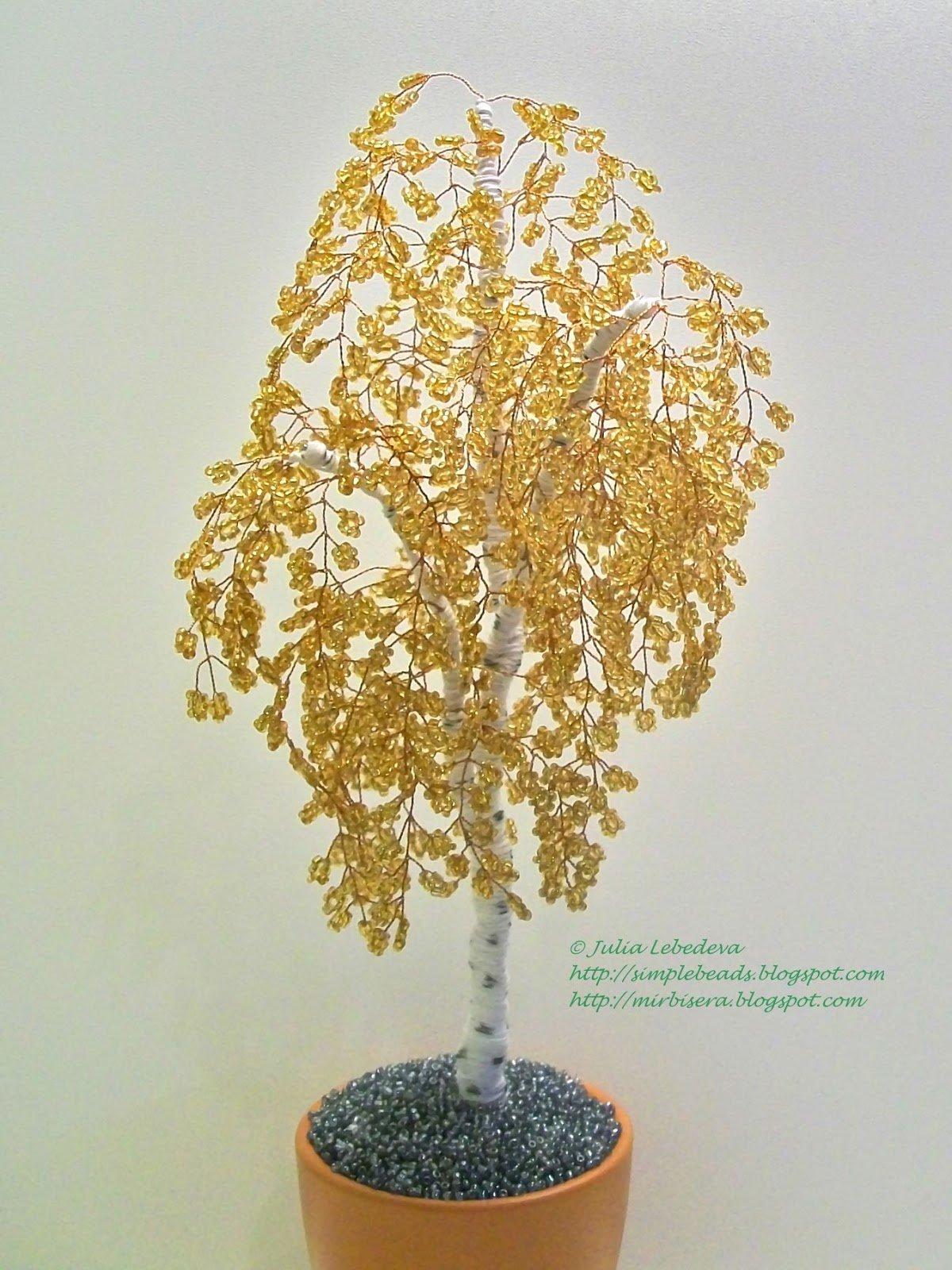 Легкие деревья из бисера для начинающих своими руками 18
