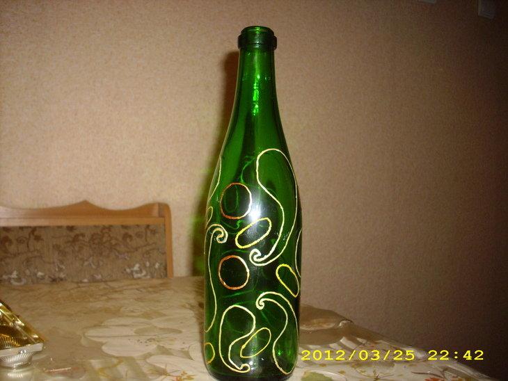 Рисунок на бутылки своими руками 416