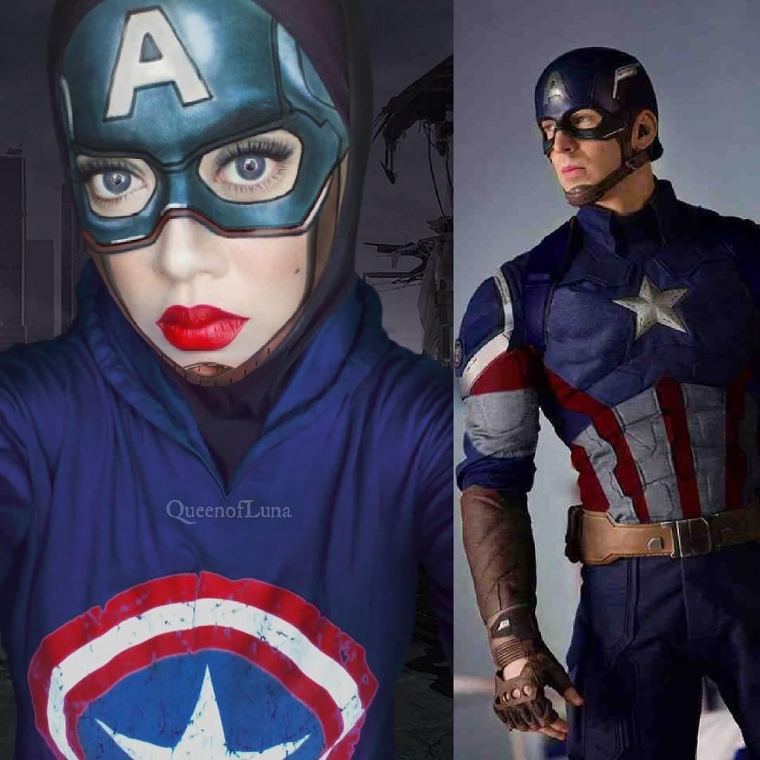 Макияж девушка супергерой