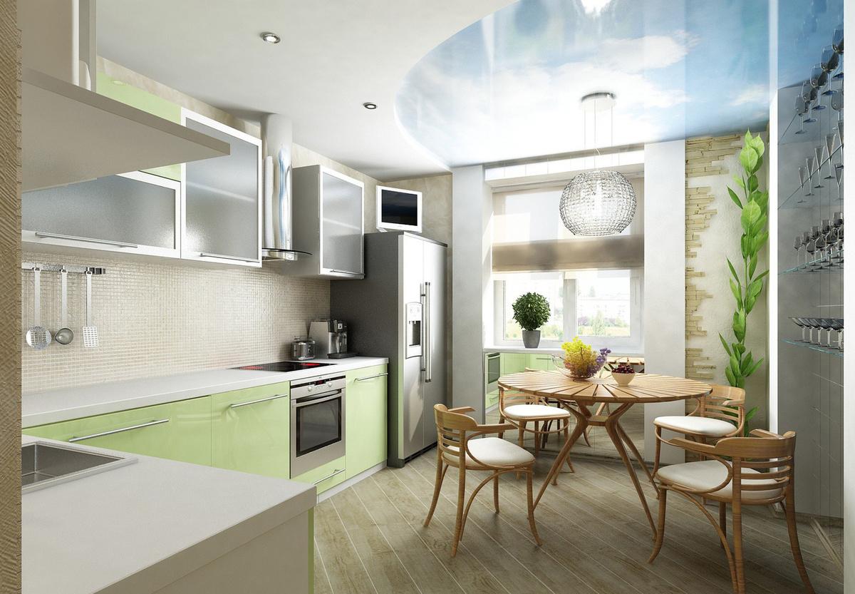 Дизайн для угловой кухни 13 кв.м