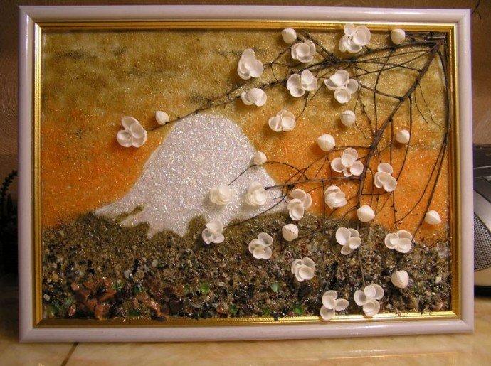 Картины из мелких ракушек своими руками 82