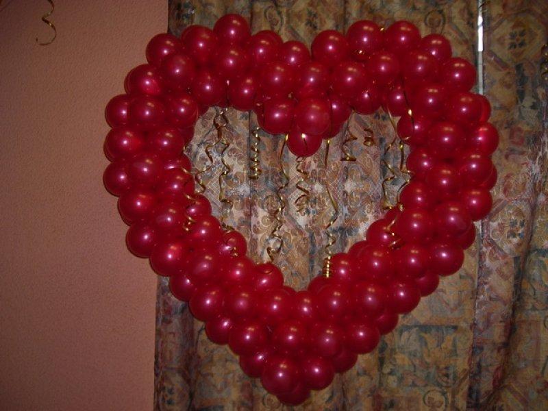 Сердце из шаров своими руками пошаговая инструкция