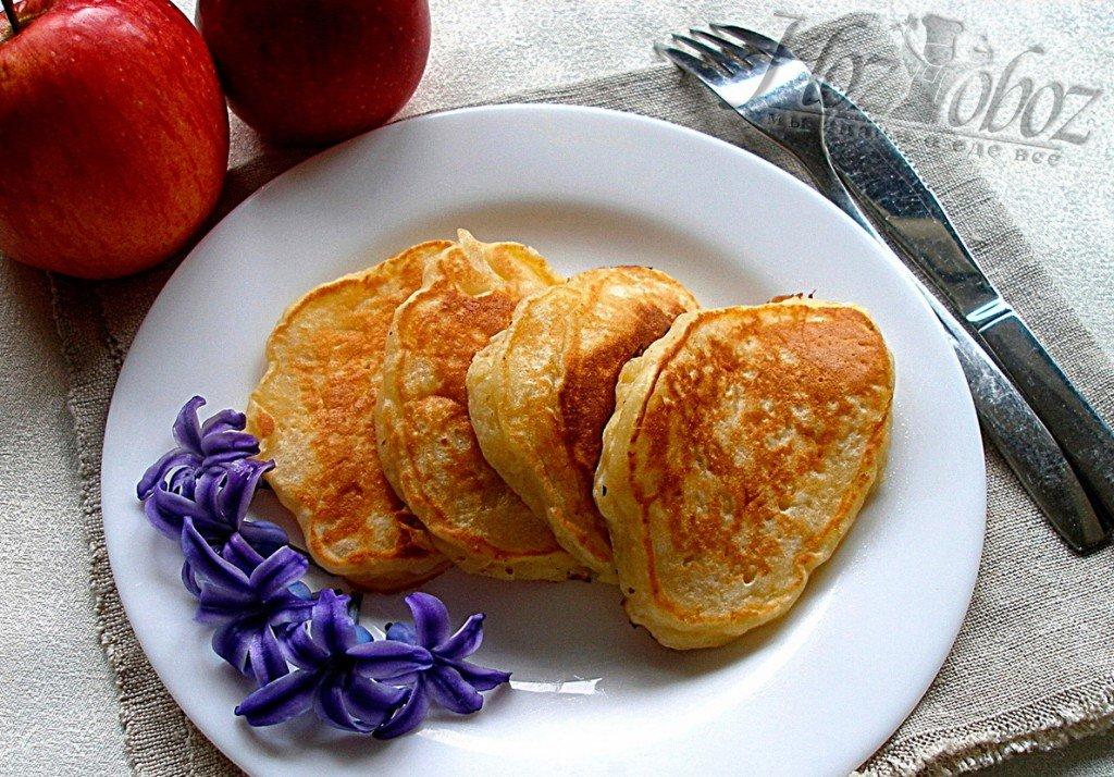 Пышные оладьи с яблоками рецепт с фото пошагово