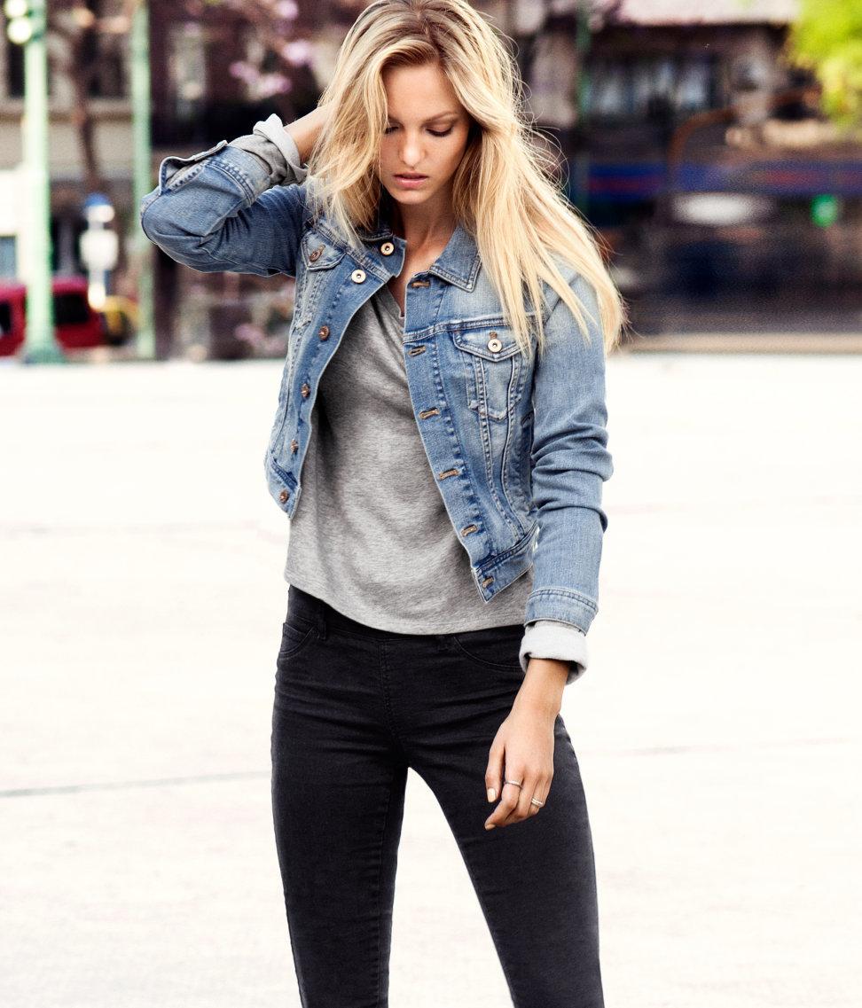 Фото джинсовых курток для девушек