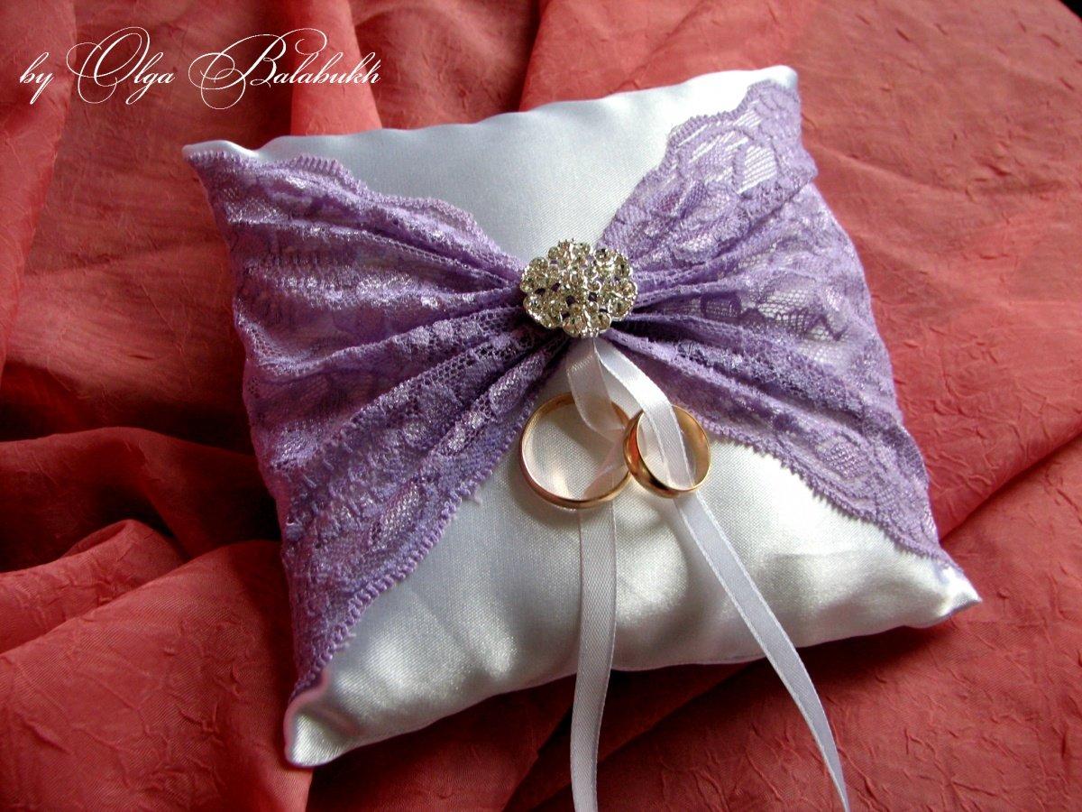 Подушки свадебные для колец своими руками