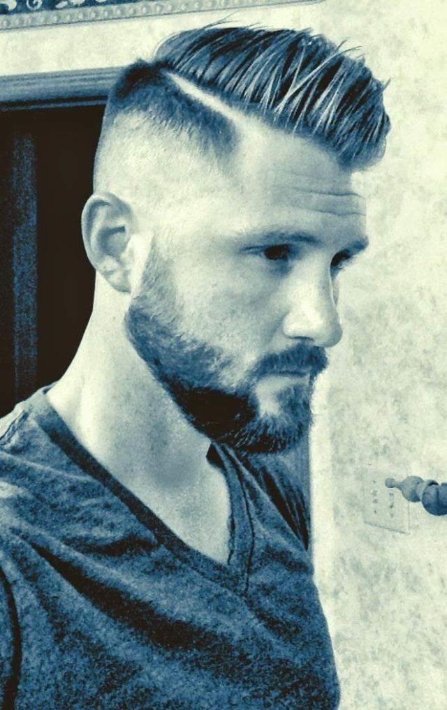 Мужские причёски с пробором