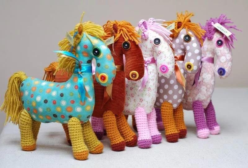Мягкие игрушки лошадки своими руками
