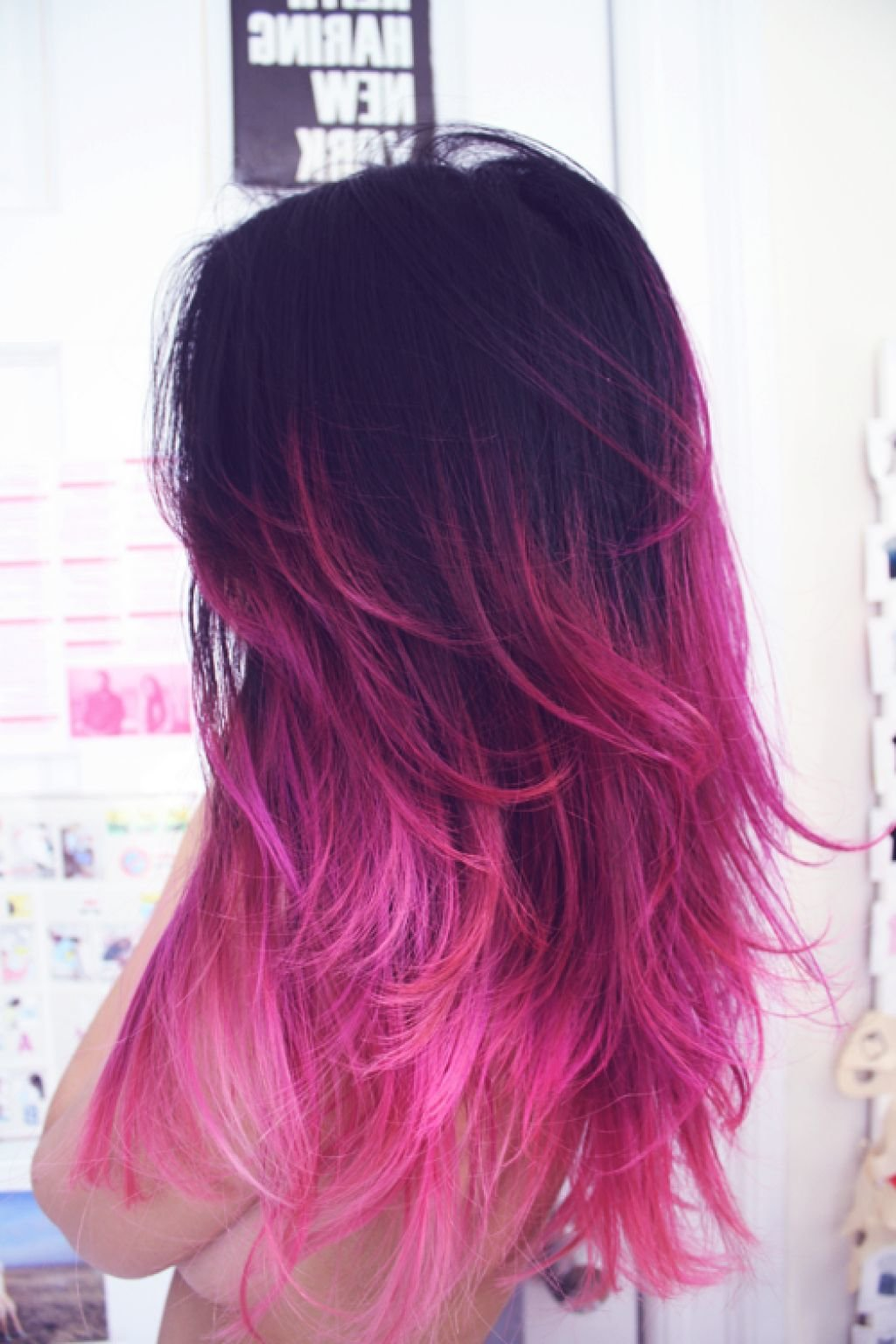 Покрасить кончики волос в домашних условиях в яркий цвет