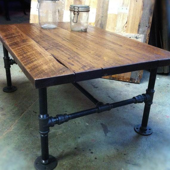 Деревянный стол в стиле лофт своими руками