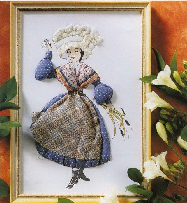 Картина объемная своими руками из ткани