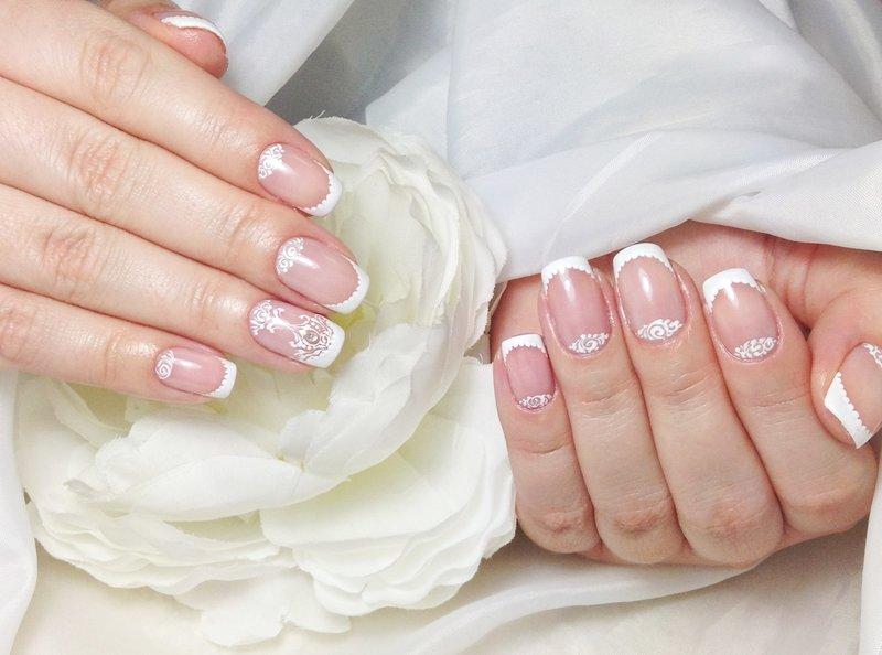 Ногти гель лаком на свадьбу