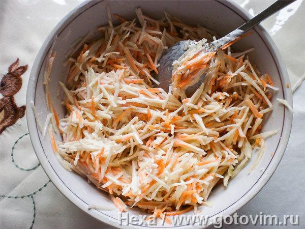 Салаты из топинамбура с морковью