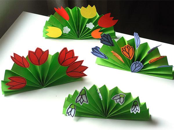 Как сделать цветочек из цветной бумаги