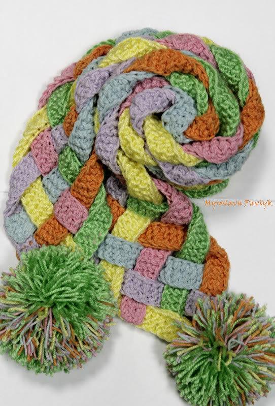 Как связать шарф из полосок