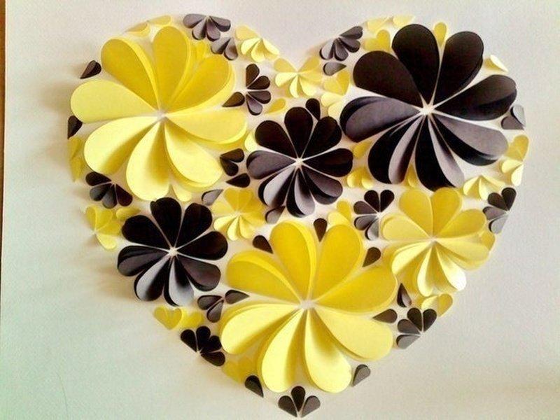 Сердечки из бумаги поделки