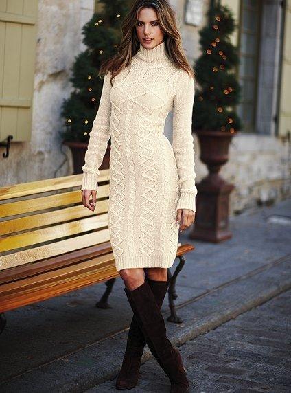 Фото платья зимы