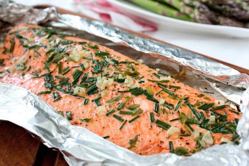 Рецепт лосося запеченный в фольге