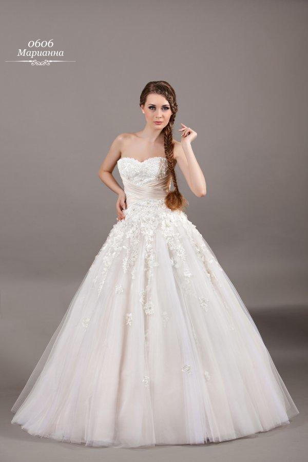 Свадебные пышные длинные платья