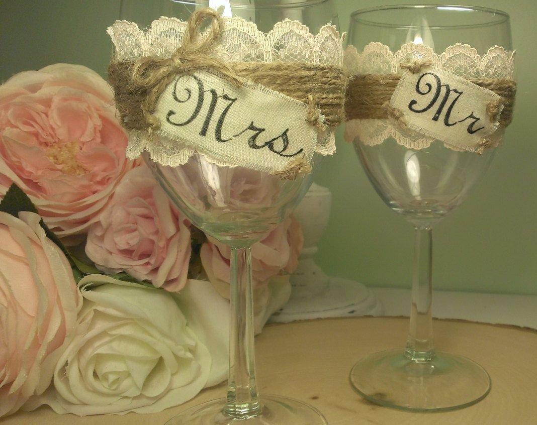 Как украсить бокалы на свадьбу своими руками пошагово 29