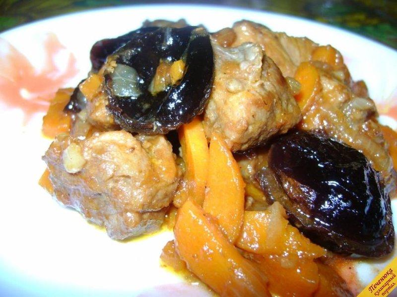 Говядина тушеная с черносливом рецепт пошагово с в