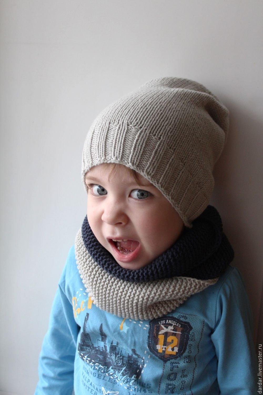 Шапки и шарфы для мальчиков вязание 130