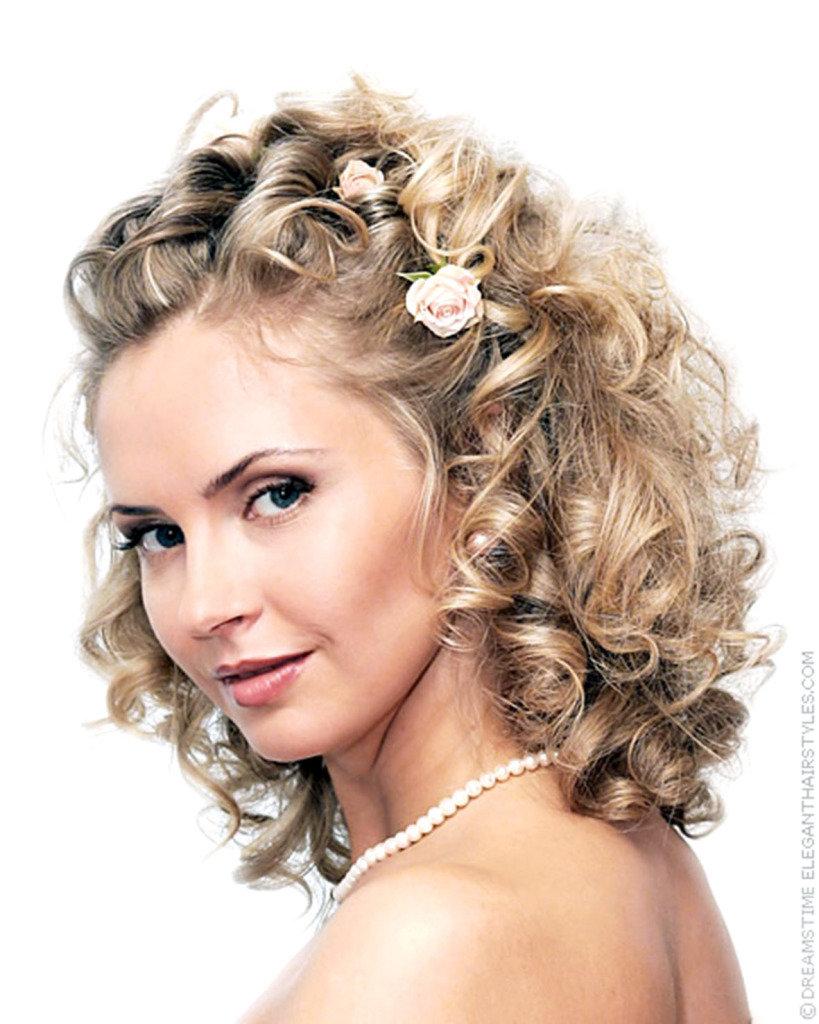 Свадебные высокие причёски на средней длины волосы