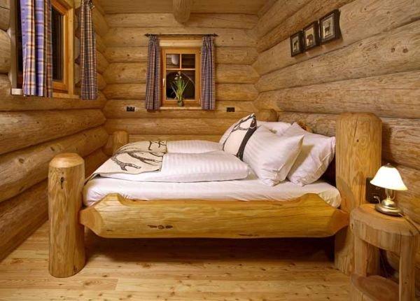 Кровати из бревна своими руками 74