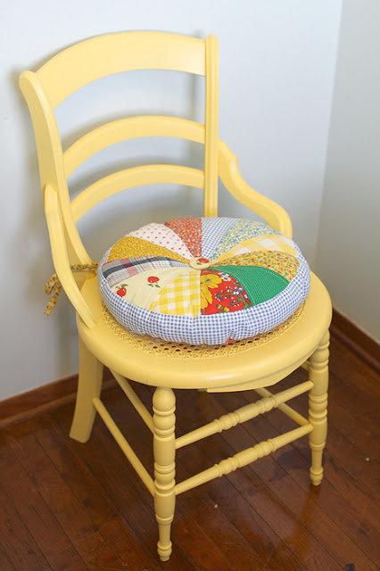 Сшить на стул подушку своими руками