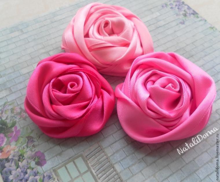 Тюльпаны из ленты своими руками 821