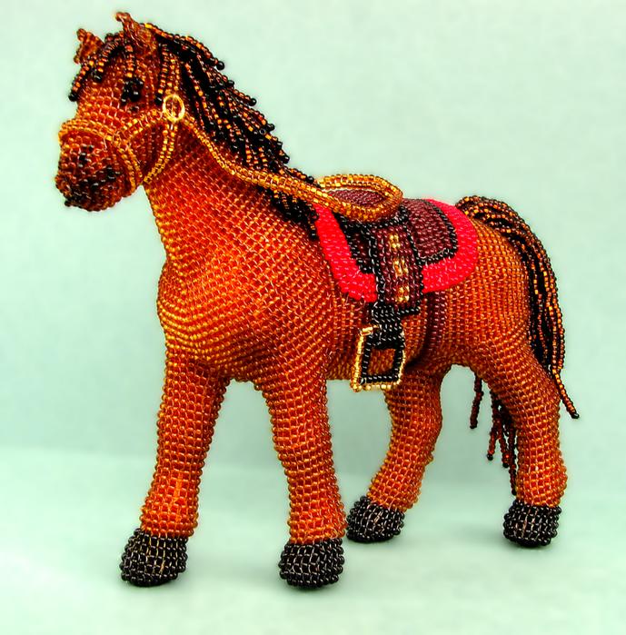 Лошадка из бисера мастер класс