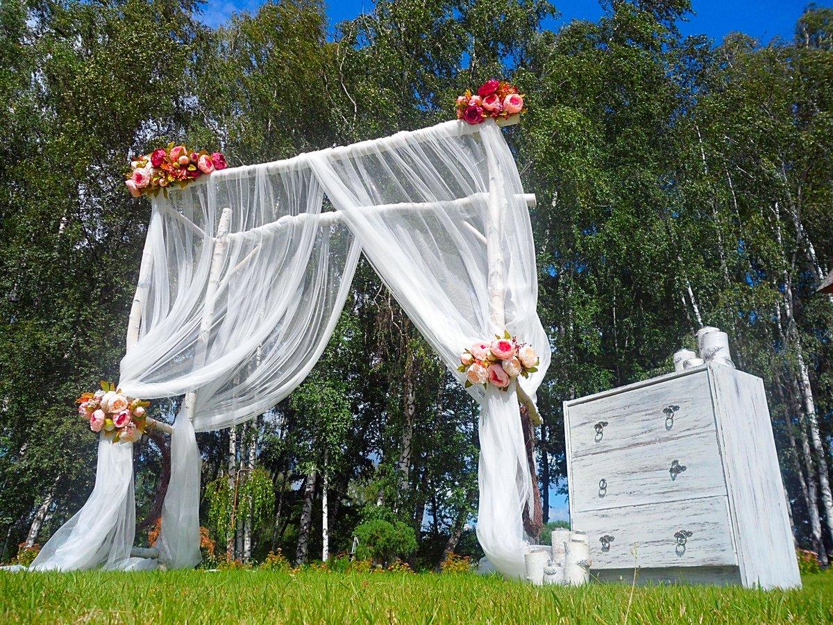 Четырехугольная свадебная арка своими руками 65