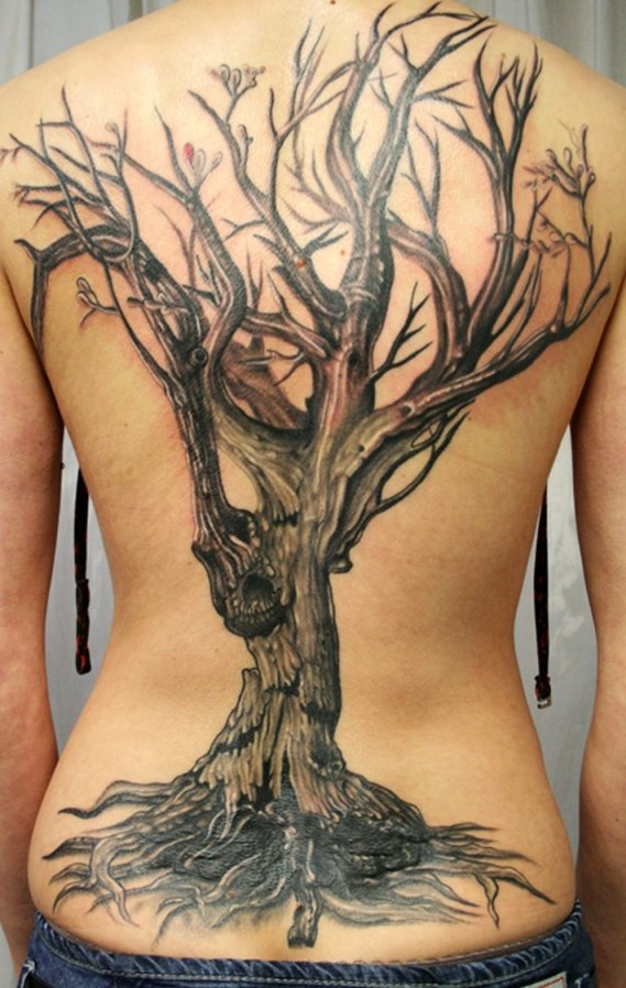 Значение тату дерево на спине