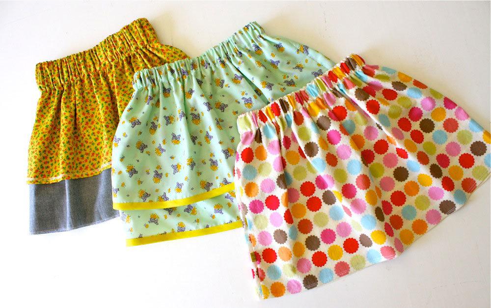 Простые юбки для девочек своими руками 11