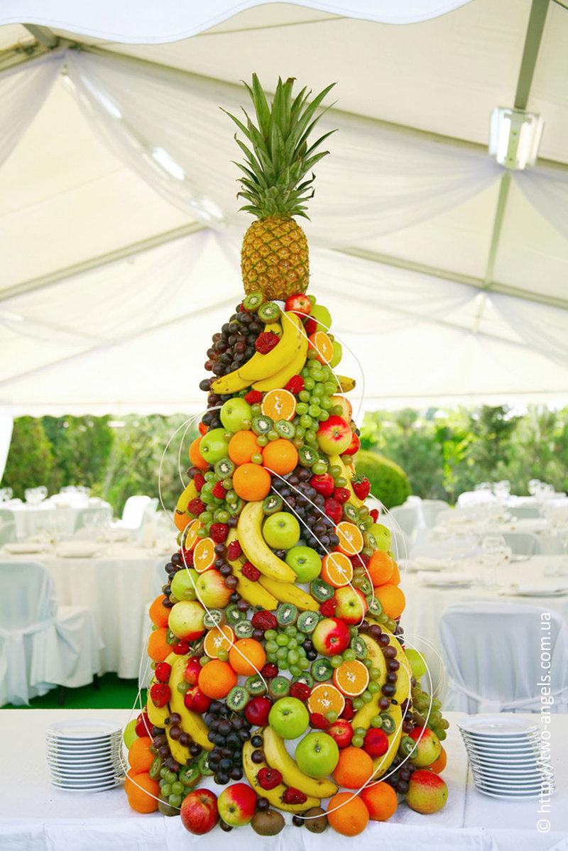 Как сделать елочку с фруктами