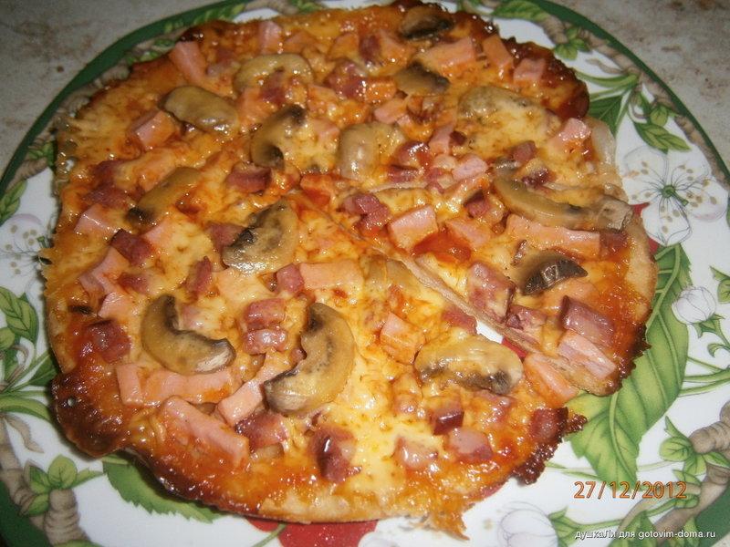 Пицца в мультиварке рецепт с фото из слоеного
