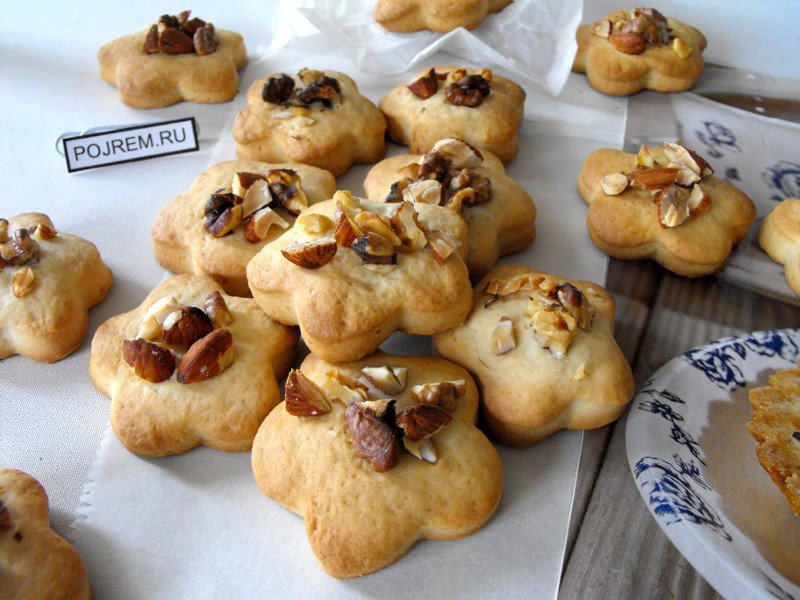 Песочное печенье на кефире рецепт с фото пошагово в духовке