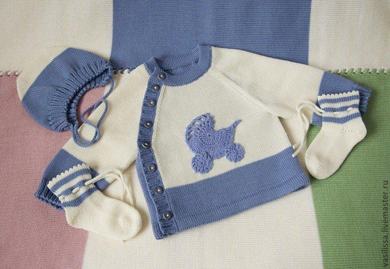 Вязание спицами кофточка для новорожденного спицами 46