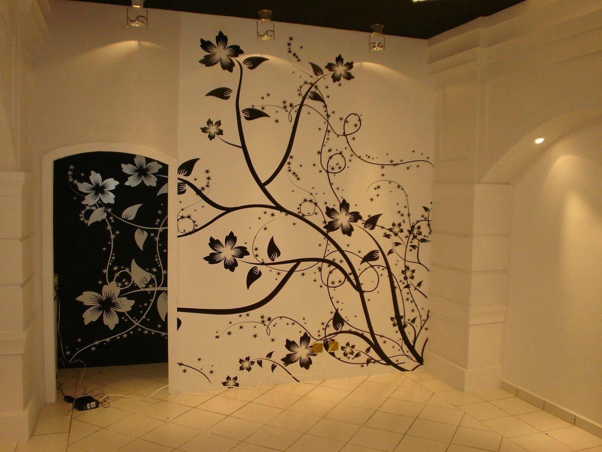 Дизайн роспись стен своими руками
