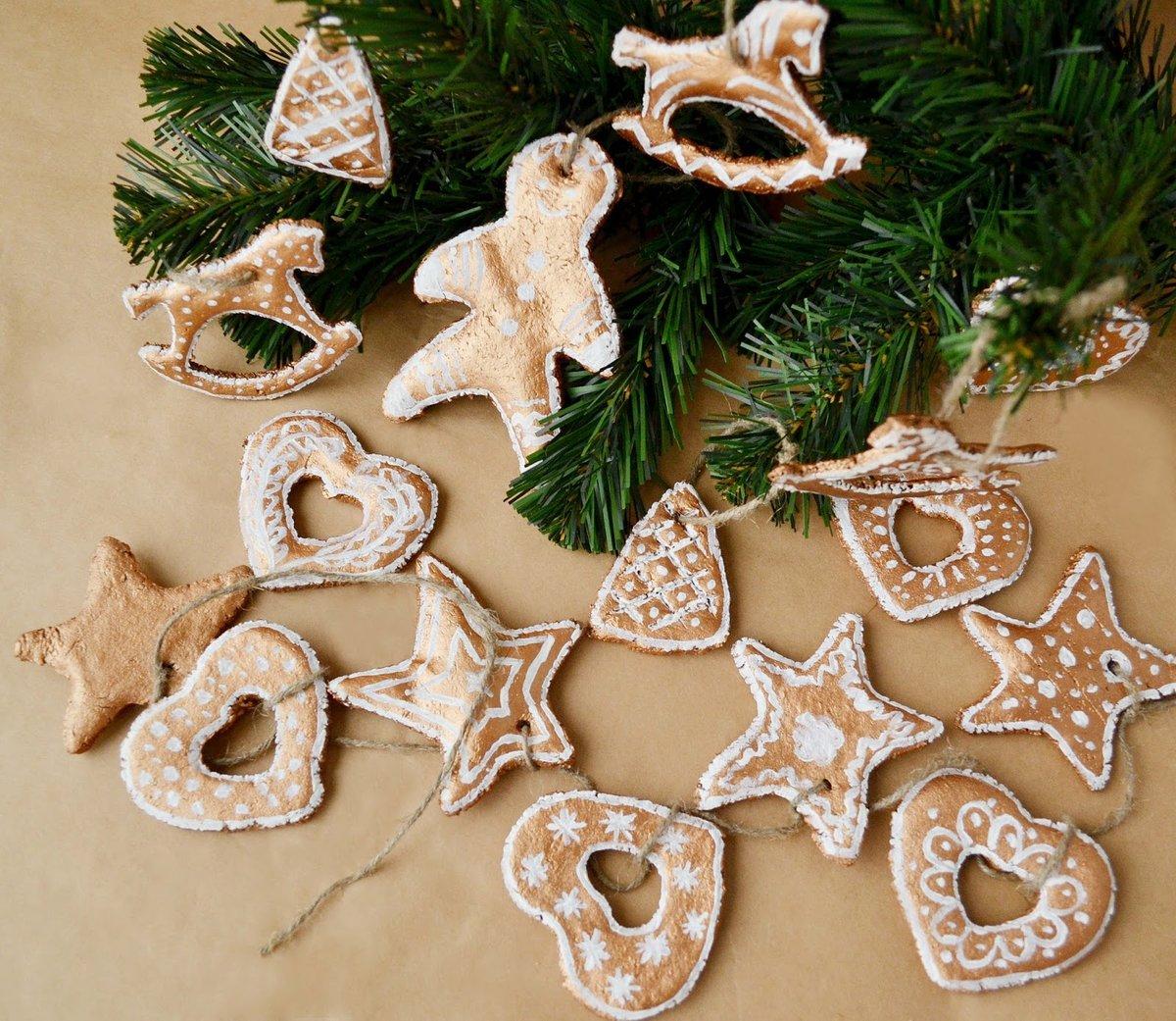 Новогодние украшения из солёного теста своими руками 40