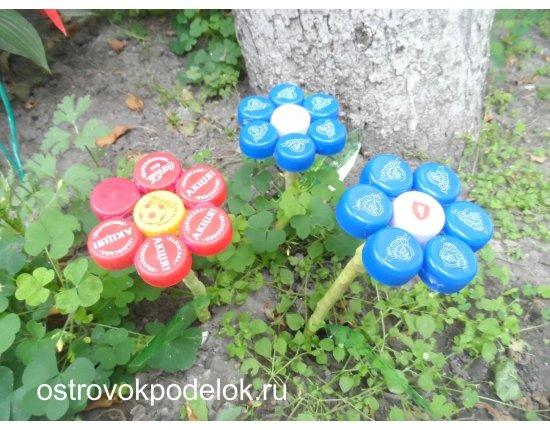 Поделки из пластиковых бутылок и крышек для сада и огорода