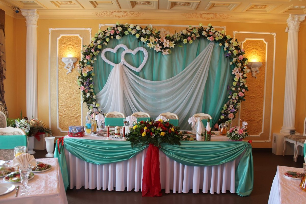 Оформление банкета на свадьбу фото